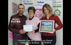Doação Liga de Combate ao Câncer