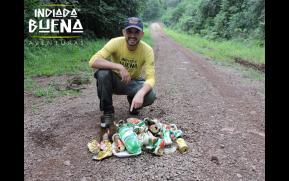 Recolhimento de Lixo na Foz do Rio Sapato