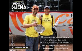 Homenagem pela Participação em 50 Indiadas - José Camargo